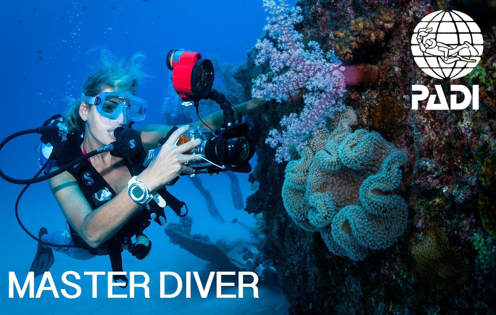 PADI Master diver course in Mauritius