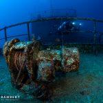 Wreck diving tiang Xiang in Mauritius